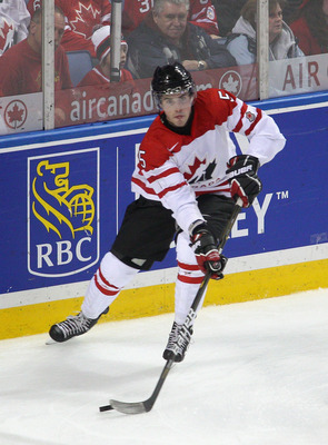 BUFFALO, NY - DECEMBER 29: Erik Gudbranson #5 of Canada skates against  Norway during the 2011 IIHF World U20 Championship game between Canada and Norway  on December 29, 2010 in Buffalo, New York. Canada won 10-1.  (Photo by Rick Stewart/Getty Images)