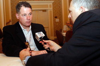 NEW ORLEANS, LA - MARCH 22:  Cleveland Browns head coach Pat Shurmur answers questions from the media during the NFL Annual Meetings at the Roosevelt Hotel on March 22, 2011 in New Orleans, Louisiana. Despite a NFL owners imposed lockout in effect since M