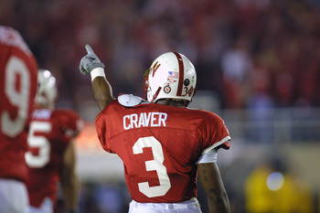 3 Jan 2002:   Keyuo Craver #3 corner back for Nebraska celebrates his interception during the Rose Bowl National Championship Game versus Miami at the Rose Bowl in Pasadena, California.  Miami won 37-14.  DIGITAL IMAGE    Mandatory Credit:  Stephen Dunn/G