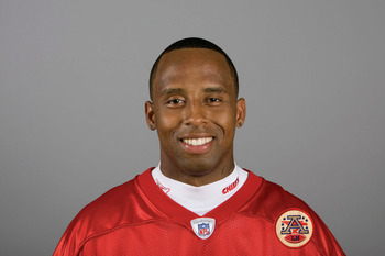 KANSAS CITY, MI - CIRCA 2010:  In this handout image provided by the NFL,  Jackie Bates of the Kansas City Chiefs poses for his 2010 NFL headshot circa 2010 in Kansas City, Missouri.  (Photo by NFL via Getty Images)