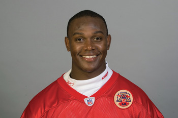 KANSAS CITY, MI - CIRCA 2010:  In this handout image provided by the NFL, Tervaris Johnson of the Kansas City Chiefs poses for his 2010 NFL headshot circa 2010 in Kansas City, Missouri.   (Photo by NFL via Getty Images)