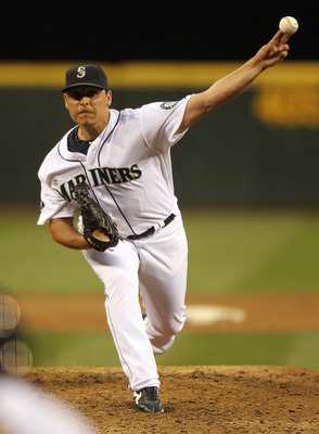 SEATTLE - JULY 14:  Starting pitcher Jason Vargas #38 of the Seattle Mariners pitches against the Texas Rangers at Safeco Field on July 14, 2011 in Seattle, Washington. The Rangers defeated the Mariners 5-0. (Photo by Otto Greule Jr/Getty Images)