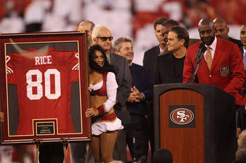 Jerry Rice's number 80 is retired in San Francisco