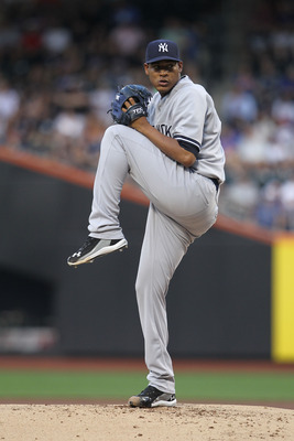 NEW YORK, NY - JULY 01:  Ivan Nova #47 of the New York Yankees pitches against the New York Mets at Citi Field on July 1, 2011 in the Flushing neighborhood of the Queens borough of New York City.  (Photo by Nick Laham/Getty Images)