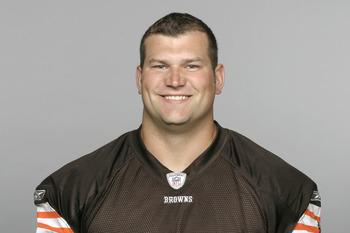 BEREA, OH - CIRCA 2010: In this handout image provided by the NFL,  Joe Thomas of the Cleveland Browns  poses for his 2010 NFL headshot circa 2010 in Berea, Ohio. (Photo by NFL via Getty Images)