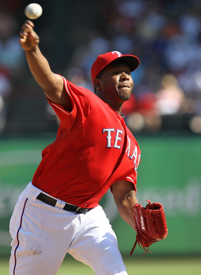 ARLINGTON, TX - MAY 29:  Neftali Feliz #30 of the Texas Rangers at Rangers Ballpark in Arlington on May 29, 2011 in Arlington, Texas.  (Photo by Ronald Martinez/Getty Images)