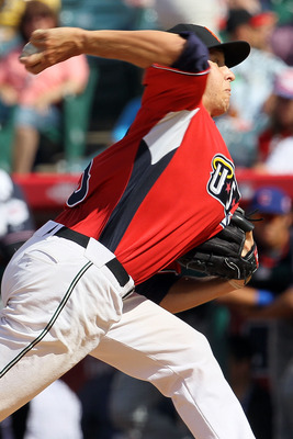 ANAHEIM, CA - JULY 11:  U.S. Futures All-Star Zack Wheeler #45 of the San Francisco Giants throws a pitch during the 2010 XM All-Star Futures Game at Angel Stadium of Anaheim on July 11, 2010 in Anaheim, California.  (Photo by Stephen Dunn/Getty Images)