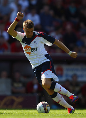 BRADFORD, ENGLAND - JULY 24:  Ivan Klasnic of Bolton Wanderers in action during the pre season friendly match between Bradford City and Bolton Wanderers at Coral Windows Stadium, Valley Parade on July 24, 2011 in Bradford, England.  (Photo by Clive Brunsk