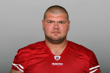 SAN FRANCISCO, CA - CIRCA 2010: In this handout image provided by the NFL, David Baas of the San Francisco 49ers poses for his NFL headshot circa 2010 in San Francisco, California. (Photo by NFL via Getty Images)