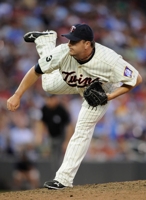 MINNEAPOLIS, MN - JULY 2: Matt Capps #55 of the Minnesota Twins delivers a pitch against the Milwaukee Brewers in the ninth inning on July 2, 2011 at Target Field in Minneapolis, Minnesota. The Brewers defeated the Twins 8-7. (Photo by Hannah Foslien/Gett