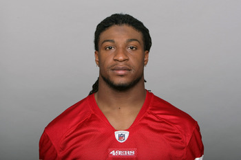 SAN FRANCISCO, CA - CIRCA 2010: In this handout image provided by the NFL, Dashon Goldson of the San Francisco 49ers poses for his NFL headshot circa 2010 in San Francisco, California. (Photo by NFL via Getty Images)