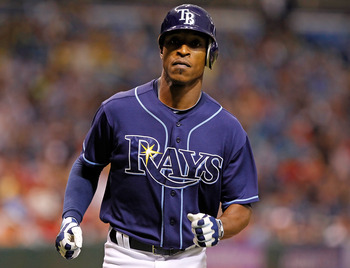 How much longer will B.J. Upton be wearing a Rays uniform?