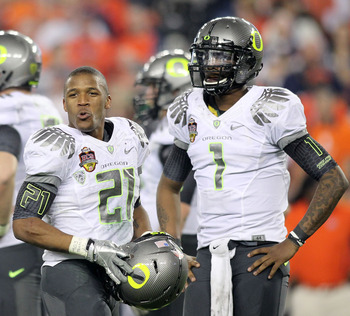 RB LaMichael James and QB Darron Thomas, Oregon