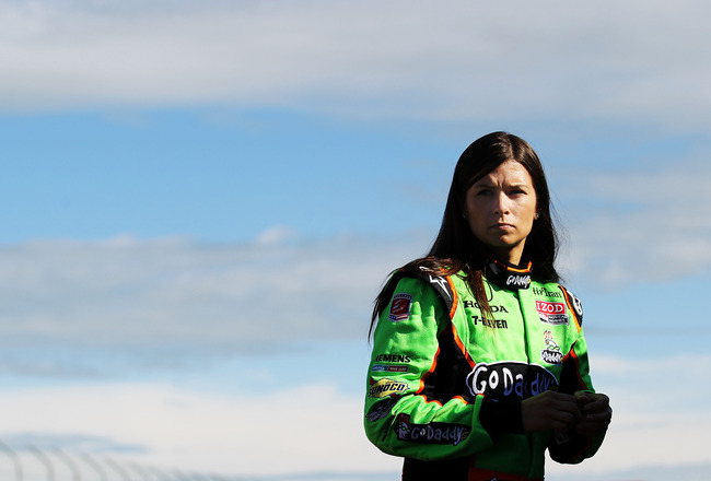 EDMONTON, AB - JULY 23:  Danica Patrick driver of the #7 Team GoDaddy Andretti Autosport Dallara Honda prepares for practice for the IZOD IndyCar Series Indy Edmonton at Edmonton City Centre Airport on July 23, 2011 in Edmonton, Alberta, Canada.  (Photo b