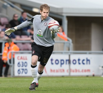 NORTHAMPTON, UNITED KINGDOM - APRIL 25:  Peter Gulacsi of Hereford United during the Coca Cola League One Match between Northampton Town and Hereford United at the Sixfields Stadium on April 25, 2009 in Northampton, England. (Photo by Pete Norton/Getty Im