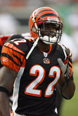 CINCINNATI - AUGUST 13:  Jonathan Joseph #22 of the Cincinnati Bengals looks on during their NFL preseason game against the Washington Redskins on August 13, 2006 at Paul Brown Stadium in Cincinnati, Ohio. (Photo By Gregory Shamus/Getty Images)
