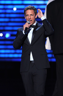 LOS ANGELES, CA - JULY 13: Comedian Seth Meyers speaks onstage at The 2011 ESPY Awards at Nokia Theatre L.A. Live on July 13, 2011 in Los Angeles, California.  (Photo by Kevin Winter/Getty Images)