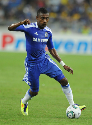 KUALA LUMPUR, MALAYSIA - JULY 21:  Salomon Kalou of Chelsea runs with ball during the pre-season friendly match between Malaysia and Chelsea at Bukit Jalil National Stadium on July 21, 2011 in Kuala Lumpur, Malaysia.  (Photo by Stanley Chou/Getty Images)