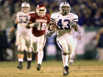 2003 Big XII Championship: Kansas State ran over the Sooners 35-7, although Oklahoma went on to the BCS National Championship Game and lost to LSU