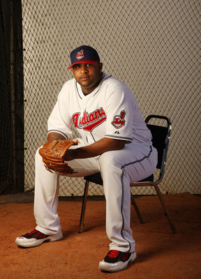 WINTER HAVEN, FL - FEBRUARY 26:  C.C Sabathia #52 of the Cleveland Indians poses during Photo Day on February 26, 2008 at Chain O' Lakes in Winter Haven, Florida.  (Photo by Elsa/Getty Images)