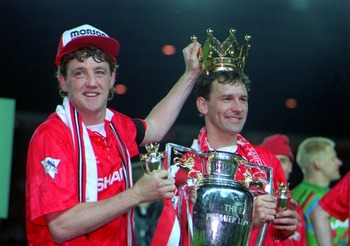 Robson crowned by teammate Bruce.