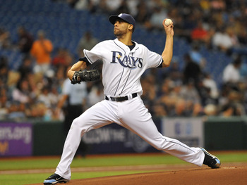 ST. PETERSBURG, FL - JULY 20:  Pitcher David Price #14 of the Tampa Bay Rays starts against the New York Yankees July 20, 2011 at Tropicana Field in St. Petersburg, Florida. The Rays won 3 - 2. (Photo by Al Messerschmidt/Getty Images)