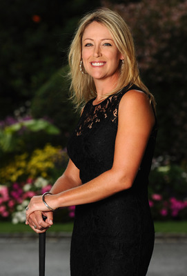 EVIAN-LES-BAINS, FRANCE - JULY 23:  Cristie Kerr of USA poses for a picture at the gala dinner after the third round of the Evian Masters at the Evian Masters golf club on July 23, 2011 in Evian-les-Bains, France.  (Photo by Stuart Franklin/Getty Images)