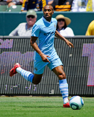 CARSON, CA - JULY 24:  Cael Clichy #22 of Manchester City against  Los Angeles during the Herbalife World Football Challenge 2011 at the Home Depot Center on July 24, 2011 in Carson, California.  (Photo by Kevork Djansezian/Getty Images)