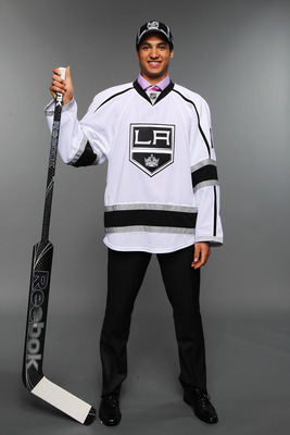 ST PAUL, MN - JUNE 25:  49th overall pick Christopher Gibson by the Los Angeles Kings poses for a photo portrait during day two of the 2011 NHL Entry Draft at Xcel Energy Center on June 25, 2011 in St Paul, Minnesota.  (Photo by Nick Laham/Getty Images)