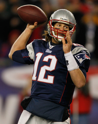 FOXBORO, MA - NOVEMBER 21:  Tom Brady #12 of the New England Patriots throw a pass during a game with the Indianapolis Colts at Gillette Stadium on November 21, 2010 in Foxboro, Massachusetts. (Photo by Jim Rogash/Getty Images)