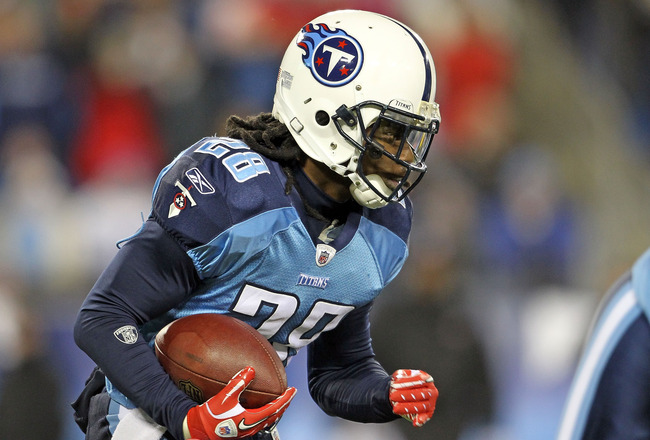 NASHVILLE, TN - DECEMBER 09:  Chris Johnson #28 of the Tennessee Titans runs with the ball against the Indianapolis Colts during the NFL game at LP Field on December 9, 2010 in Nashville, Tennessee.  (Photo by Andy Lyons/Getty Images)