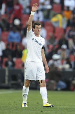 JOHANNESBURG, SOUTH AFRICA - JULY 23:  Gareth Bale of Tottenham in action during the 2011 Vodacom Challenge final match between Orlando Pirates and Tottenham Hotspur at Coca Cola Stadium on July 23, 2011 in Johannesburg, South Africa.  (Photo by Lefty Shi