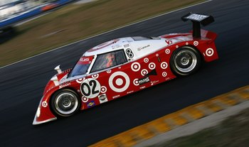DAYTONA BEACH , FL - JANUARY 28:  The #02 Target Chip Ganassi Racing Lexus Riley driven by drivers, Scott Dixon, Dan Weldon, and Casey Mears, races in the early hours of the 2006 Rolex 24 AT Daytona on January 28, 2006 at Daytona International Speedway in