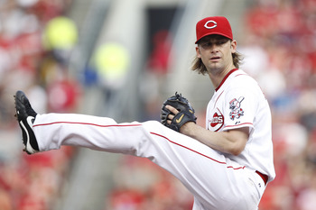 CINCINNATI, OH - JULY 16: Bronson Arroyo #61 of the Cincinnati Reds pitches against the St. Louis Cardinals at Great American Ball Park on July 16, 2011 in Cincinnati, Ohio. (Photo by Joe Robbins/Getty Images)