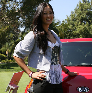 CITY OF INDUSTRY, CA - SEPTEMBER 18:  Michelle Wie smiles after a press conference to announce the Kia Classic LPGA event to be held in March of 2011 on September 18, 2010 at Industry Hills Golf Club at Pacific Palms in City of Industry, California.  (Pho