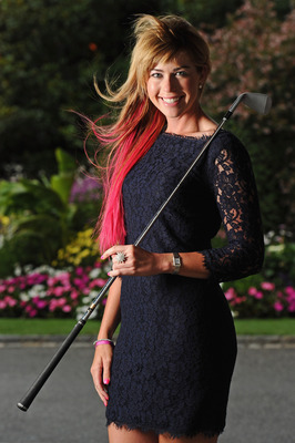 EVIAN-LES-BAINS, FRANCE - JULY 23:  Paula Creamer of USA poses for a picture at the gala dinner after the third round of the Evian Masters at the Evian Masters golf club on July 23, 2011 in Evian-les-Bains, France.  (Photo by Stuart Franklin/Getty Images)