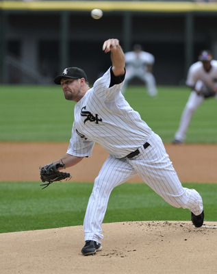 CHICAGO, IL - JUNE 25:  John Danks #50 of the Chicago White Sox pitches against  the Washington Nationals on June 25, 2011 at U.S. Cellular Field in Chicago, Illinois.  (Photo by David Banks/Getty Images)