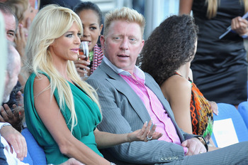 MONACO - MAY 27:  Victoria Silvstedt (L) and Boris Becker (R) attend the AmberLounge Fashion Monaco 2011 on May 27, 2011 in Monaco, Monaco.  (Photo by Pascal Le Segretain/Getty Images)
