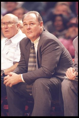 21 Oct 1995:  Seattle SuperSonics head coach George Karl looks on during a game against the Chicago Bulls at the United Center in Chicago, Illinois.  The Bulls won the game, 101-97. Mandatory Credit: Jonathan Daniel  /Allsport