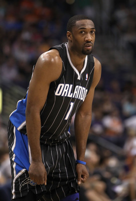 PHOENIX, AZ - MARCH 13:  Gilbert Arenas #1 of the Orlando Magic during the NBA game against the Phoenix Suns at US Airways Center on March 13, 2011 in Phoenix, Arizona.  NOTE TO USER: User expressly acknowledges and agrees that, by downloading and or usin
