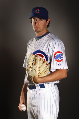MESA, AZ - FEBRUARY 22:  Casey Coleman #27 of the Chicago Cubs poses for a portrait during media photo day at Finch Park on February 22, 2011 in Mesa, Arizona.  (Photo by Ezra Shaw/Getty Images)