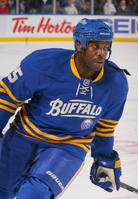 BUFFALO, NY - MARCH 15: Michael Grier #25 of the Buffalo Sabres warms up prior to play against the Carolina Hurricanes at HSBC Arena on March 15, 2011 in Buffalo, New York. Carolina won 1-0.  (Photo by Rick Stewart/Getty Images)