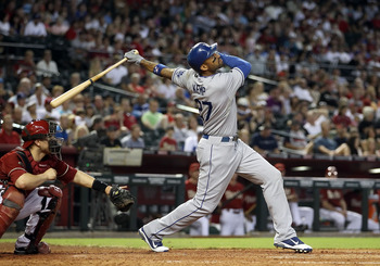 PHOENIX, AZ - JULY 17:  Matt Kemp #27 of the Los Angeles Dodgers bats against the Arizona Diamondbacks during the Major League Baseball game at Chase Field on July 17, 2011 in Phoenix, Arizona.  The Diamondbacks defeated the Dodgers 4-1.  (Photo by Christ