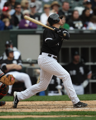 CHICAGO, IL - MAY 01: Mark Teahen #23 of the Chicago White Sox pinch-hits against the Baltimore Orioles at U.S. Cellular Field on May 1, 2011 in Chicago, Illinois. The Orioles defeated the White Sox 6-4. (Photo by Jonathan Daniel/Getty Images)