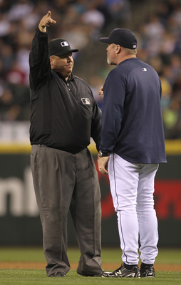 Eric Wedge's frustration was apparent, as he was ejected from the game in the eighth inning after arguing a called balk.
