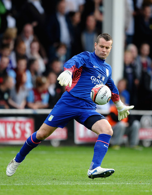 WALSALL, ENGLAND - JULY 21:  Shay Given of Aston Villa in action during a Pre Season Friendly between Walsall and Aston Villa at Banks' Stadium on July 21, 2011 in Walsall, England.  (Photo by Laurence Griffiths/Getty Images)