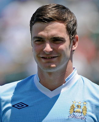 CARSON, CA - JULY 24:  Adam Johnson #11 of Manchester City against  Los Angeles during the Herbalife World Football Challenge 2011 at the Home Depot Center on July 24, 2011 in Carson, California.  (Photo by Kevork Djansezian/Getty Images)