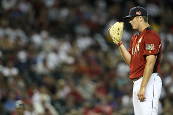 PHOENIX, AZ - JULY 10:  U.S. Futures All-Star Drew Pomeranz #51 of the Cleveland Indians looks for a signal during the 2011 XM All-Star Futures Game at Chase Field on July 10, 2011 in Phoenix, Arizona.  (Photo by Christian Petersen/Getty Images)