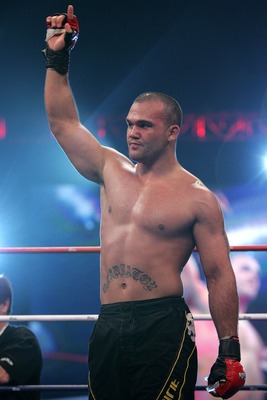 ATLANTA - FEBRUARY 23:  Robbie Lawler celebrates his victory over Eduardo Pamploma during the Superfight at the International Fight League event at The Arena at Gwinnett Center on February 23, 2007 in Atlanta, Georgia.  (Photo by Chris Trotman/Getty Image