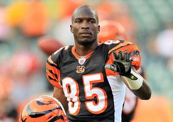 CINCINNATI - AUGUST 20:  Chad Ochocinco #85 of the Cincinnati Bengals is pictured before the NFL preseason game against the Philadelphia Eagles at Paul Brown Stadium on August 20, 2010 in Cincinnati, Ohio.  (Photo by Andy Lyons/Getty Images)